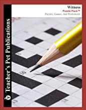 Witness by Karen Hesse Puzzle Pack - Teacher Lesson Plans, Activities, Crossword Puzzles, Word Searches, Games, and Worksheets (PDF on CD)