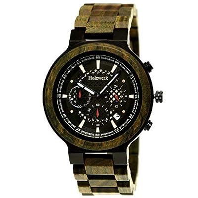 Handgefertigte Holzwerk Germany® Designer Herren-Uhr zum Sonderpreis.
