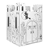 Easy Playhouse Haunted Castle - Kids Art & Craft for Indoor & Outdoor Fun, Color, Draw, Doodle on Halloween Friends– Decorate & Personalize a Cardboard Fort, 32' X 32' X 43. 5' - Made in USA, Age 3+