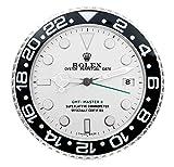 Rolex Replika Wanduhr Motiv Rolex GMT 2 Classic White Rolex GMT weises Ziffernblatt