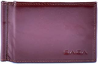 Saga Leather Card and ID Cases for Unisex , Brown