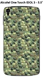 ONOZO Camouflage Cat Design Protective Case for Alcatel