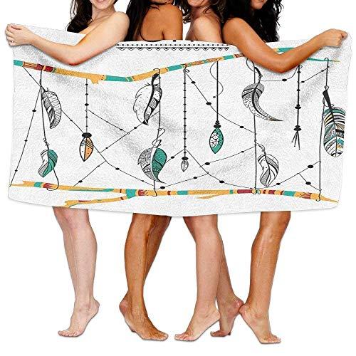 JACARTER PUSAUL Veer Huis Inheemse Amerikaanse Klassieke Retro Veren Hippie Oude Cultuur Ritual Artwork Zachte Absorbens Beach Handdoek Zwembad Handdoek 31