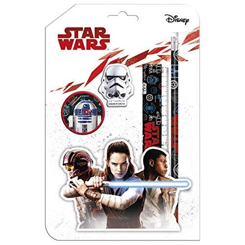 Star Wars - Schreib Set Schreibset - tolles Geschenk für den Schulanfang Schultüte (Mehrfarbig 4 Teile)