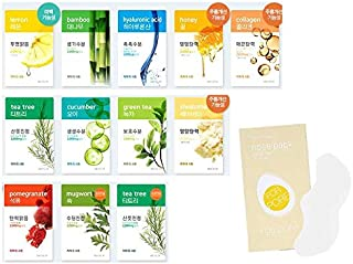 [Aritaum] Fresh Power Essence Mask 12Pcs Variety Mask sheets   Rejuvenate, Revitalize, Nourish, Detoxify, Brighten & Soften Your Skin
