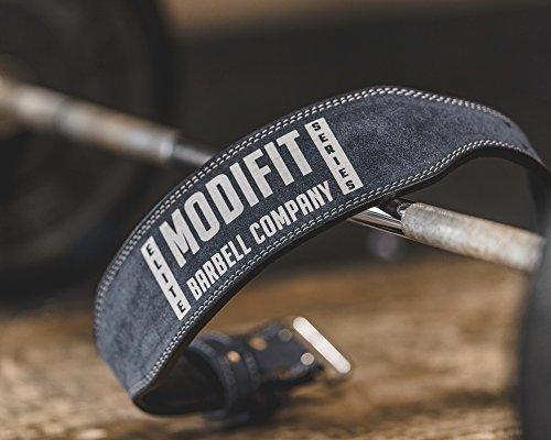 ModiFit Elite Steel Grey Denim Look Weight Lifting Belt - Back Support...