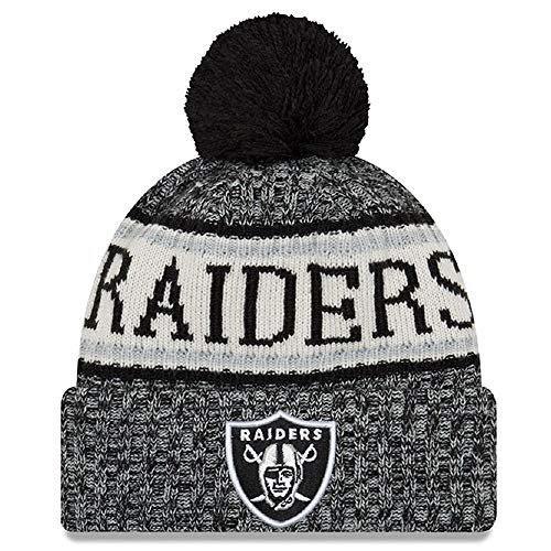 New Era American Football NFL Teamsport Winter Strickmütze Unisex Beanie Mütze, Oakland Raiders 6848, OSFM