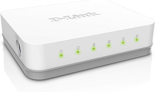D-Link GO-SW-5G Mini Switch Gigabit 5 Ports Ethernet Blanc - Idéal Partage de Connexion et Mise en Réseau Small/Home ...