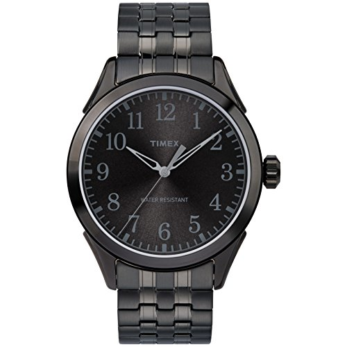 Timex Men's TW2R48200 Briarwood Black Stainless Steel Expansion Band Watch