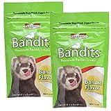 Marshall Bandits Ferret Treat, Banana, 2-Pack of 3 Ounce Bags
