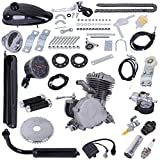 80cc Bicycle Engine 2-Stroke Gas Motorized Bike Motor Kit Gasoline Motorized Gas Engine Bike Motor Kit (Black)