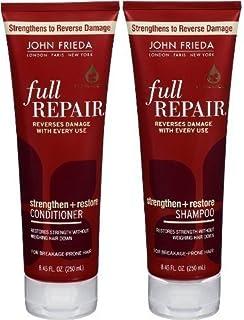 (Duo Set, Conditioner + Shampoo) - John Frieda Full Repair Strengthen and Restore, DUO Set Conditioner + Shampoo, 250ml, 1...