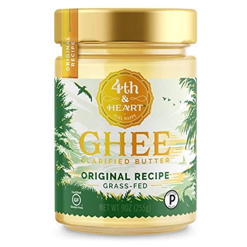 Original Grass-Fed Ghee Butter by 4th & Heart, 9 Ounce, Pasture Raised, Non-GMO, Lactose Free, Certified Paleo and Keto