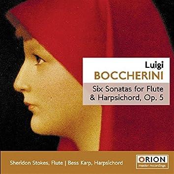 Luigi Boccherini - Six Sonatas For Flute & Harpsichord, Op.5