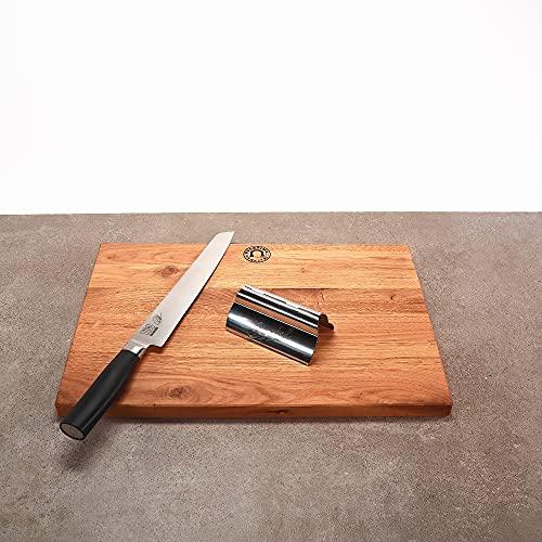 Cuchillo jamonero Kai Shun Tim Mälzer Kamagata TMK-0704 + tabla de roble hecha a mano 40 x 30 +...