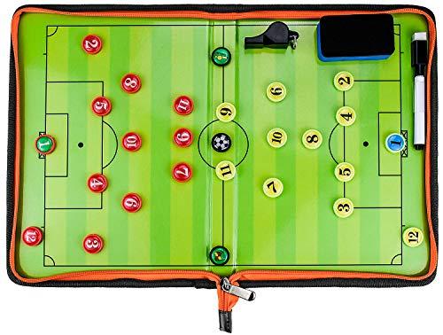 SANTOO Práctica Profesional Tablas de fútbol tácticas 5 Piezas, Kit Tablero magnético Estrategia Panel portátil con borrable para Entrenamiento o Competencia