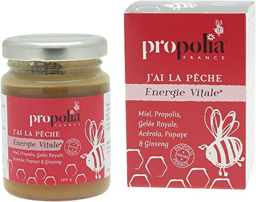 Energie Vital- Propolia - Miel- Propolis- Gelée Royale- Acérola- Papaye- Ginseng- 120g - Made in France