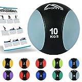MSPORTS Medizinball 1 – 10 kg – Professionelle Studio-Qualität inkl. Übungsposter Gymnastikbälle (Set 1-10 kg)