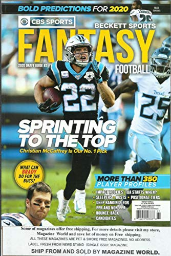 CBS SPORTS BECKETT SPORTS FANTASY FOOTBALL MAGAZINE, * ISSUE, 2020 DRAFT GUIDE * DISPLAY UNTIL OCTOBER, 20th 2020 * ( PLEASE NOTE: ALL THESE MAGAZINES ARE PETS & SMOKE FREE. NO ADDRESS LABEL, FRESH STRAIGHT FROM NEWSSTAND. (SINGLE ISSUE MAGAZINE)