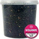 SQUAWK Black Oil Sunflower Seeds | Premium Quality Garden Wild Bird Food | Full of Protein, Rich in Oil Mix | Nutritious, High Energy Mixture | Perfect Year-Round Feeding for Birds