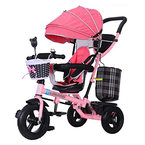 Save %49 Now! GFF Pushchair 4-in-1 Baby Trolley Kids' Tricycle Stroller Quick Fold Trike with Brakes...