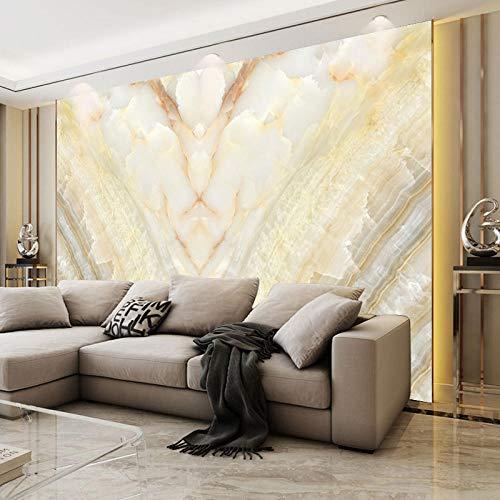 RTYUIHN Papel tapiz 3d mural 8d sala de estar sofá atmósfera cine y televisión imitación mármol dormitorio sala de estar moderno arte de la pared decoración