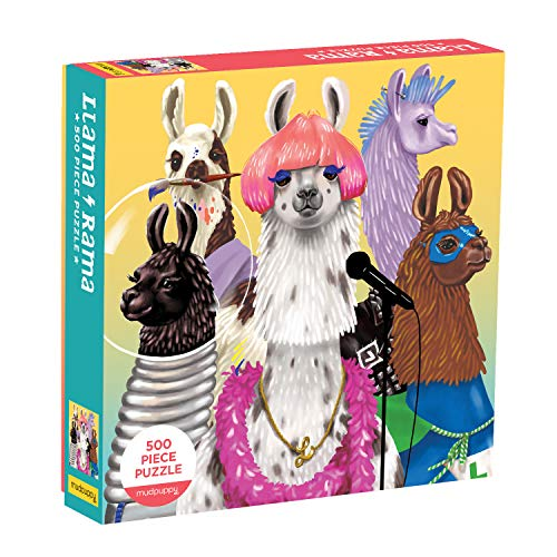 Mudpuppy Llama Rama 500 Piece Family Jigsaw Puzzle, Cute Puzzle for Kids and Families with Dressed Up Llamas