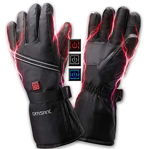 ORASANT Electric Heated Gloves with Rechargeable Battery 3000mAh 7.4V