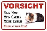 AdriLeo Schild Vorsicht Meerschweinchen - Mein Haus 15x20 oder 20x30cm (20x30cm)