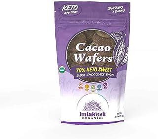 Imlak'esh Organics Cacao Wafers (Keto Sweet), Grab & Go Pouch, 2.25oz