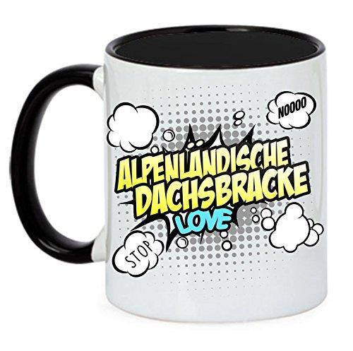 Hund Tasse COMIC - ALPENLÄNDISCHE DACHSBRACKE Bracke Jagd Jäger - Hunde Fun Kaffeebecher Siviwonder