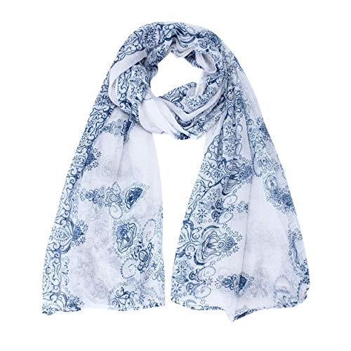 Ztweijin Verkopen hot beroemde familie van wind blauw en wit porselein Bali garen sjaal warm en comfortabel geschikt