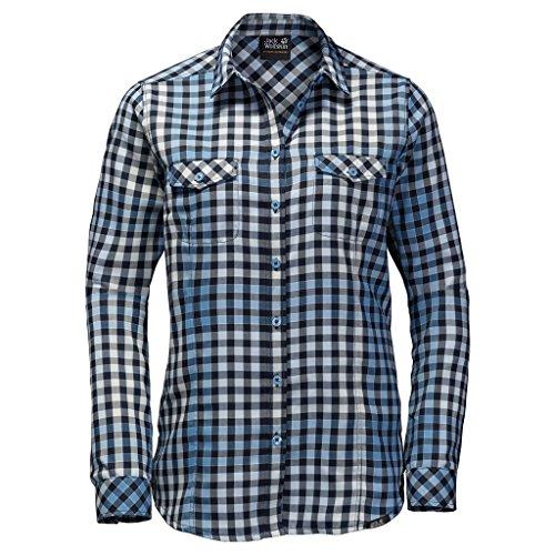 Preisvergleich Produktbild Jack Wolfskin Damen Valley Shirt Women Hemd,  Light Sky Checks,  M