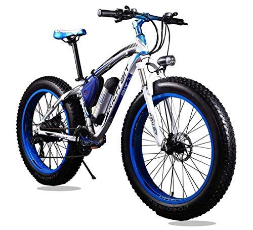 RICH BIT RT-012 Bicicleta eléctrica Recargable de montaña, 21 velocidades, Cambio Shimano