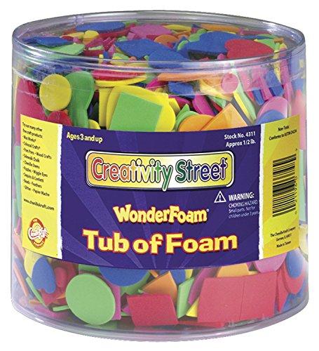 Chenille Kraft Wonderfoam Assorted Shape Decorative Foam Shape, Assorted Size, Assorted Color, 0.5 lb Tub, Pack of 3000
