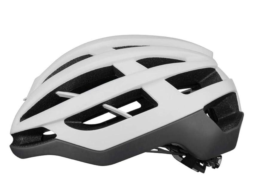 犯人パワーセル突き出すXUXUWA 頭部の保護 ヘルメット自転車サイクリング自転車ヘルメットサイクリングユニセックススーパーライトマウンテンバイクエアロヘルメット安全キャップ通気性のファッション磁気バックルホワイト55Cmx61Cm
