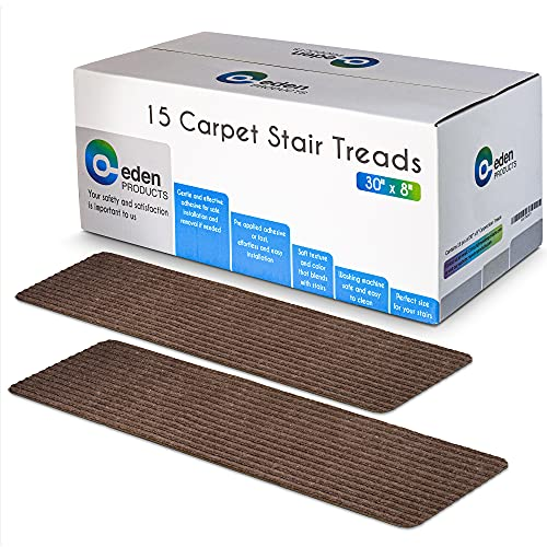 EdenProducts Non-Slip Carpet Stair Treads, 15...