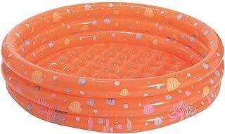 ZIXING Fashion Piscina infantil familiar hinchable y plegable 3 aros para jardín,Piscina Redonda hinchable para niños y adultos