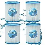 LXTOPN - Filtro de piscina para Bestway Tipo II, Spa de repuesto de filtro de piscina hinchable accesorios, filtro de piscina para jardín exterior, lavable y reutilizable