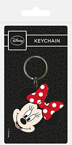 Keychain Disney - Llavero de Goma Minnie Head