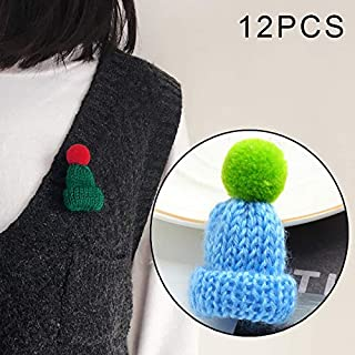 Bracelets 12PCS Cute Mini Knitted Hairball Hat Brooch Sweater Pins Badge(Dark green) Bracelets (Color : Light blue)