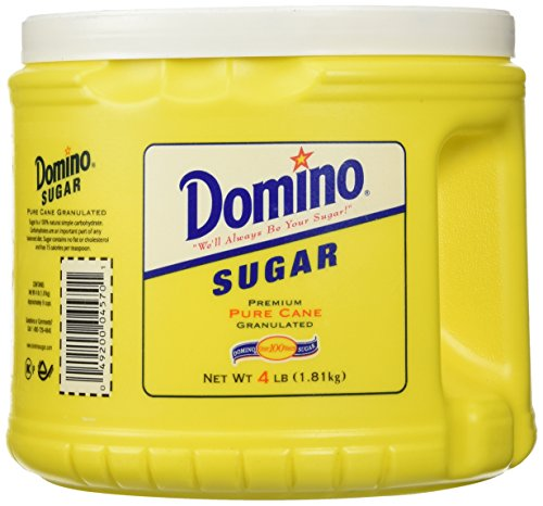 Domino sugar, granulated, 4 lb can