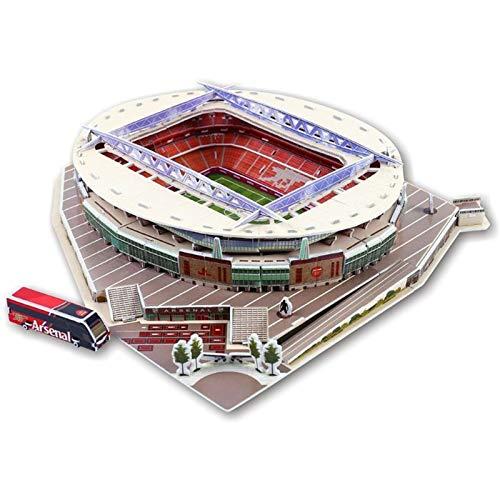 ZFF Rompecabezas 3D Rompecabezas Tridimensional 3D - DIY World Football Stadium Stadium Model Modelo de construcción de Papel Adecuado para Regalos y Decoraciones Educativo e Interesante (Color : 04)