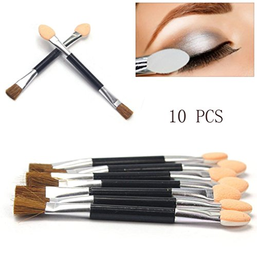 Sensail 10 pcs Jetables Maquillage double Ombres à paupières Eyeliner Brush éponge Applicateur Outil