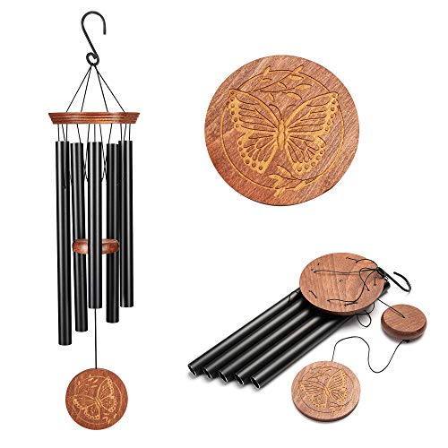 Famiry Wind Chimes For Outside Deep Tone 36 Inch Large Sympathy Wind Chimes Outdoor Clearance Memorial Wind Chimes With 5 Metal Tubes Hook Outdoor Decor For Garden Patio Yard Home Buy