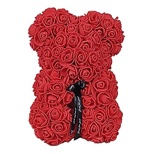 Rosenbär,Rose Teddy Mädchen Geschenk Jubiläum Mutter Geschenk ewige Rose Bär Rose Bär Rose Teddybär Blume Rose Bär Rose Bär mit Geschenkbox