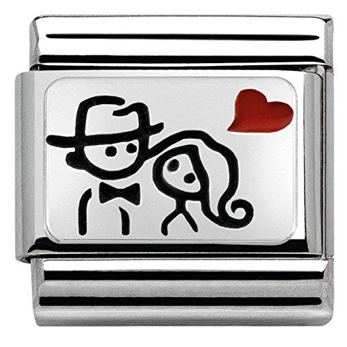 Nomination 330208/10 - Charm da donna, in argento 925 smaltato