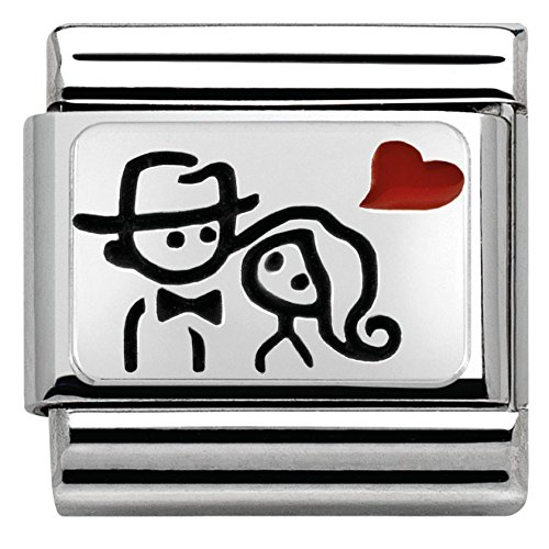 Nomination Classic Composable 330208/10 - Abalorio para mujer (plata 925, esmaltado)