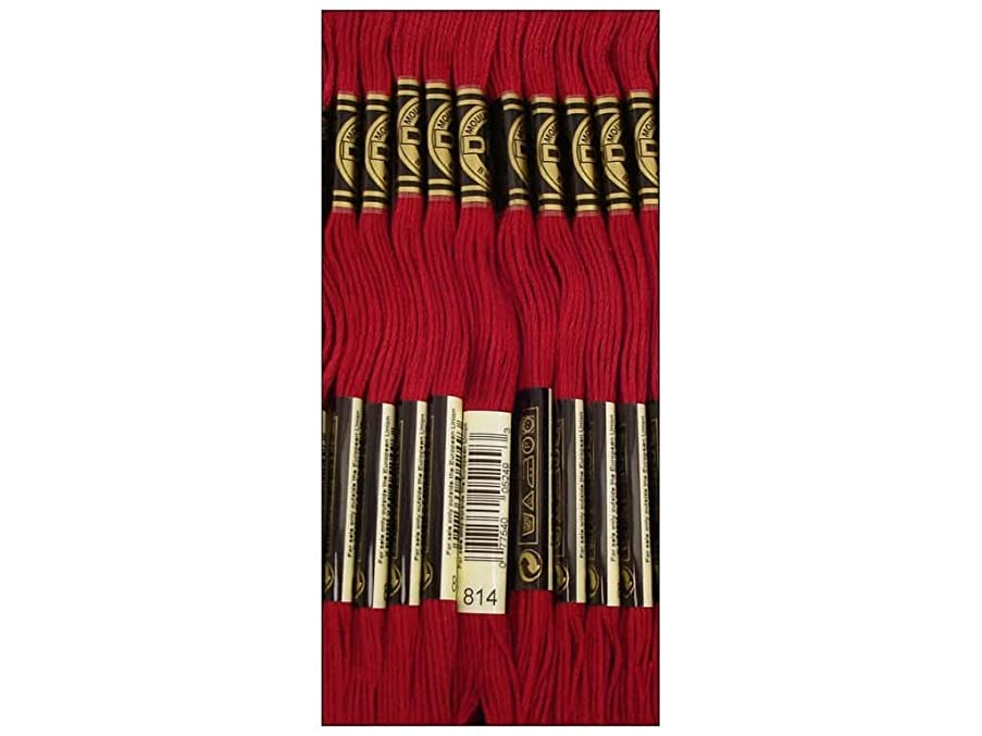 Bulk Buy: DMC Thread Six Strand Embroidery Cotton 8.7 Yards Dark Garnet 117-814 (12-Pack)