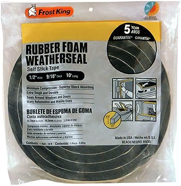 Frost King Available R930H Sponge Rubber Foam Tape 9 16 Inch Black 1 2 W 9 16 T